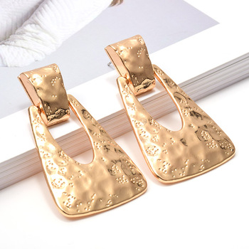 Wholesale New Gold Metal Dangle Drop Earrings Jewelry Accessories For Women Fashion Trend Pendientes Bijoux Christmas Gift