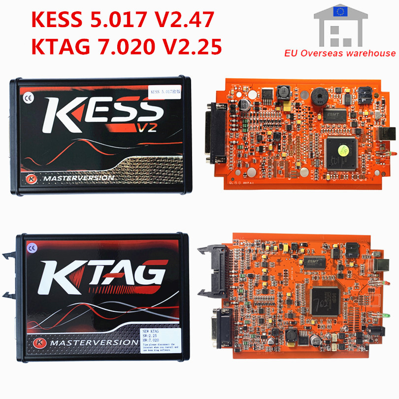 Factory Price A+KESS V2 5.017 V2.47 EU Red ECM Titanium KTAG 7.020 V2.25 4LED Online Master BDM Frame ECU Chip Tuning Programmer