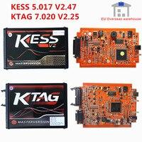 Preço de fábrica a + kess v2 5.017 v2.47 eu red ecm titanium ktag 7.020 v2.25 4led on-line master bdm frame programador de ajuste de chip ecu