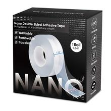 2mm Double Sided Magic Nano Tape Reusable Adhesive Transparent Non Marking Removable Magic Glue Tape Daily Use Washable