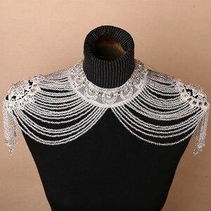 Image 1 - Bolero hecho a mano con apliques de cristales, envoltura de boda, Bolero, hecho en China, accesorios de boda, vestido de noche con chal Bolero
