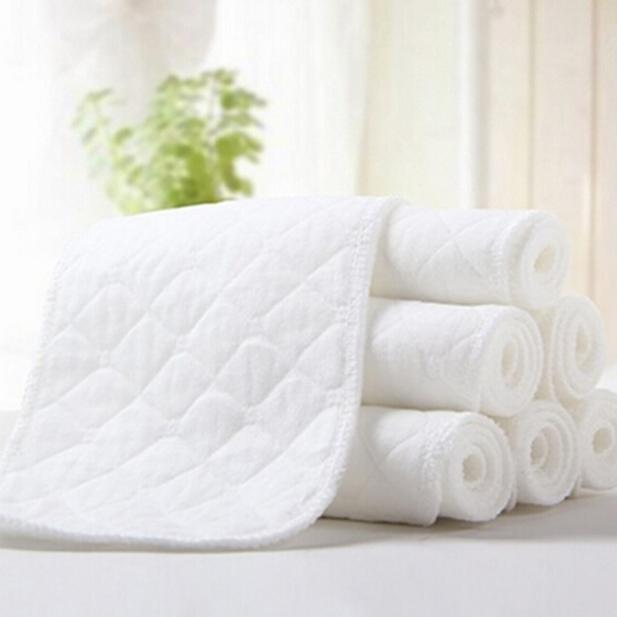 MUQGEW 5PCS Baby Diapers Set Inserts Reusable  Bamboo Eco Cotton Newborn Infant Diapers Washable CN8