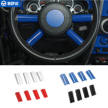 MOPAI ABS سيارة الداخلية عجلة القيادة الديكور غطاء الكسوة ملصق اكسسوارات ل جيب رانجلر JK 2007 2008 2009 2010