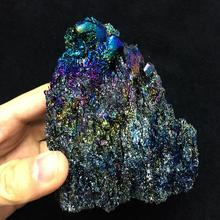 Colorful crystal natural silicon carbide ore mineral teaching
