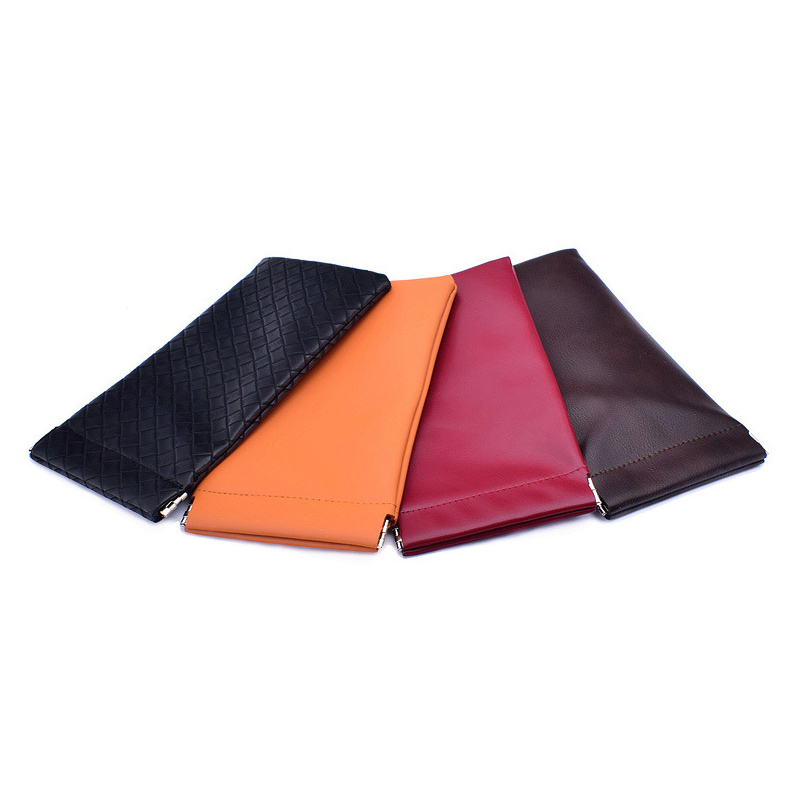 Soft Reading Glasses Bag PU Leather Pocket Superfine Fiber Eyeglasses Pouch For Men Sunglasses Bag Eyewear Accessories