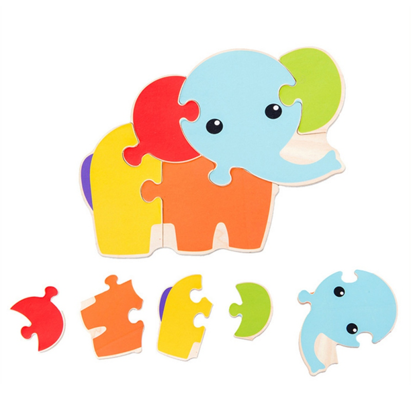 Children Early Education Puzzles Jigsaw Wooden Toy Children Cartoon Pattern Puzzle Early Education Puzzles C