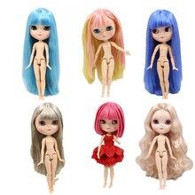 Boneca gelada corpo comum cabelo macio pele natural extra mão conjunto ab boneca brinquedo presente.
