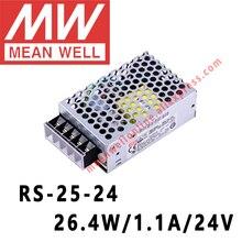 Mean Well RS-25-24 AC/DC 26,4 W/1.1A/24 V Одиночный выход импульсный источник питания meanwell Интернет-магазин
