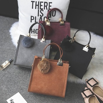 2020 latest frosted fashion handbags hair ball ladies one-shoulder diagonal texture best popular all-match women bags