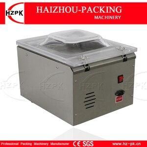 Image 3 - HZPK Machine à emballer sous vide automatique pour aliments de cuisine, en acier inoxydable, fermeture de sacs en plastique, chambre Stee, petite Machine à emballer sous vide DZ260