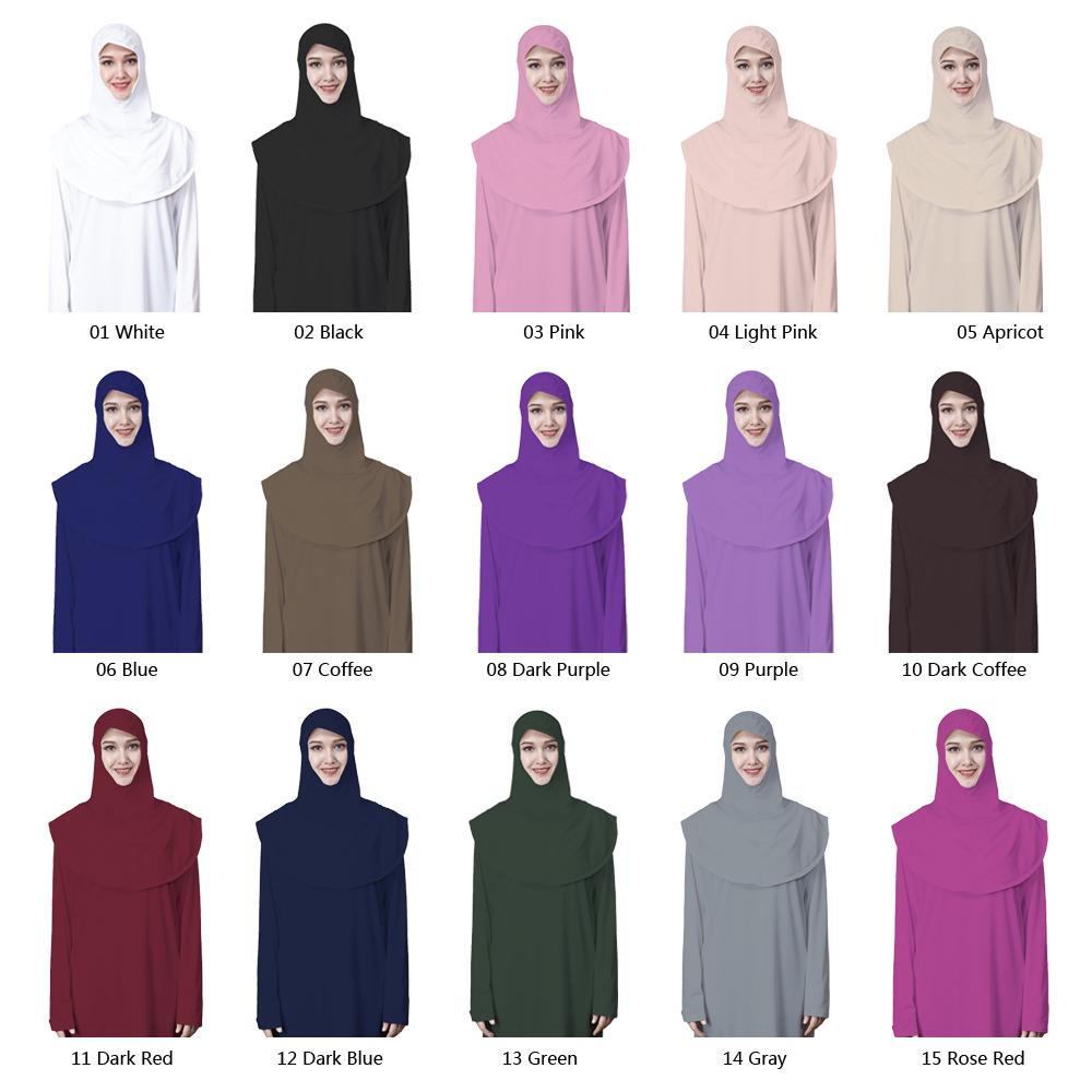 One-Piece Muslim Women Prayer Hijab Dress Maxi Abaya Kaftan Dubai Robes Workship Thobe Gown Ramadan Islamic Clothes Middle East