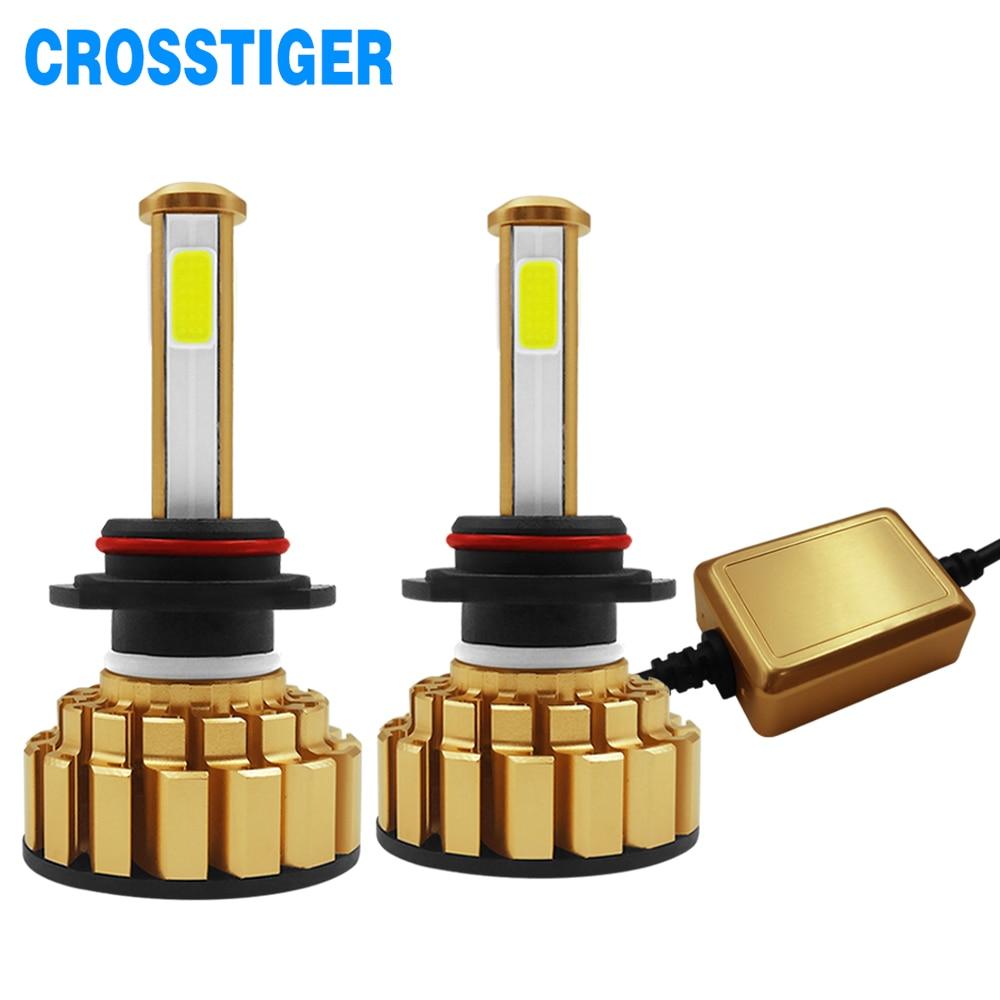 12000Lm 6500K H4 LED H7 hb4 9006 hb3 9005 H8 H11 Auto Car Headlight Bulbs 4 Side Chip Leds Lights Lamps