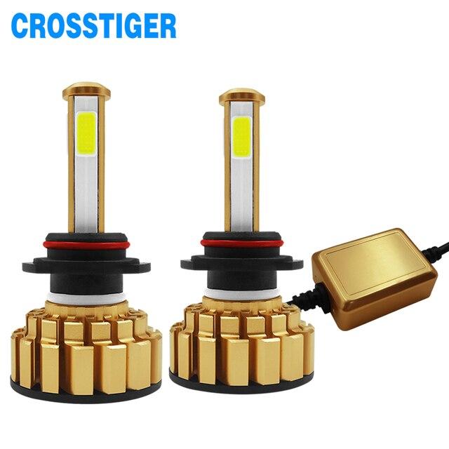 12000Lm 6500K H4 LED H7 hb4 9006 hb3 9005 H8 H11 Automatique Dampoules de Phare de Voiture de 4 Côtés Puce Led s Voiture Lumières Ampoules LED H4 H7 Lampes Automatiques