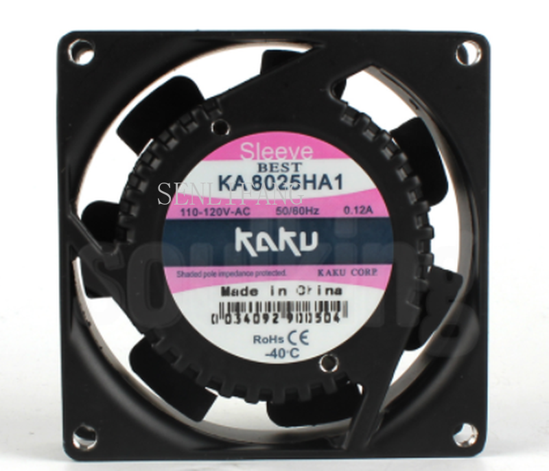 Free Shipping KA8025HA1 110V 0.14A Ball Bearing Ball Bearing IP55 Cooling Fan