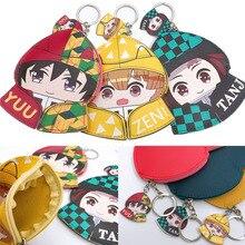 Demon Slayer Kimetsu No Yaiba Coin Purse Wallet Cosplay Prop Anime Kamado Nezuko Cartoons PU Coins Storage Bag Keychain