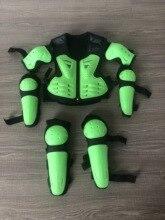 Kids motorcycle racing ATV dirt bike jacket Knee pads elbow pads children clother kneecap wrist guard chest protector jersey