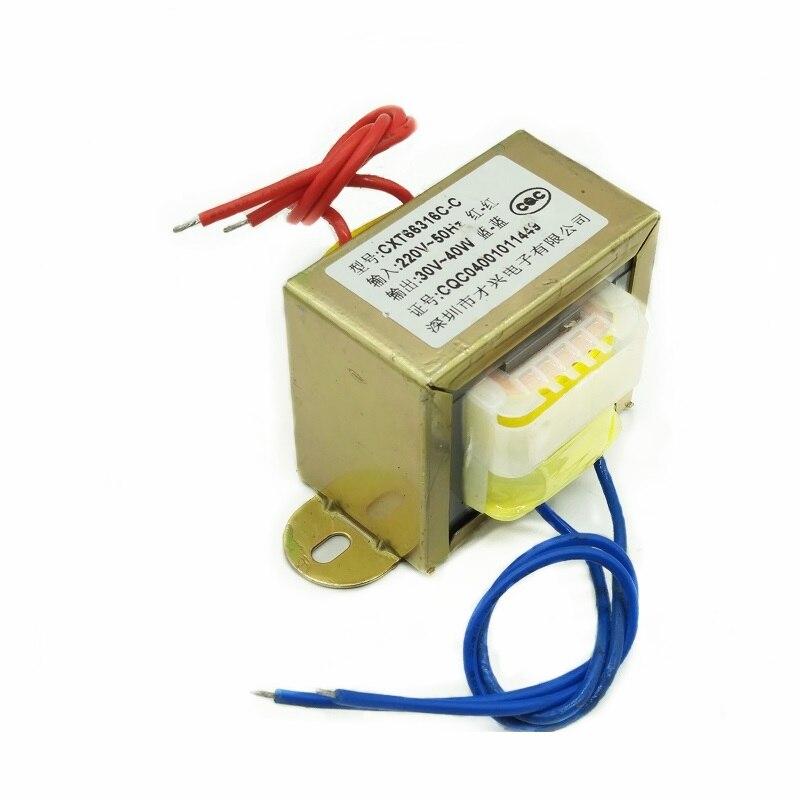 EI66-40W Тип 40 Вт 40ва трансформатор 220 В до 30 в силовой трансформатор AC AC30V/1.3A