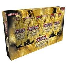 Yugioh-tarjetas Flash coleccionables de oro para niños, juguete para regalo, versión inglesa