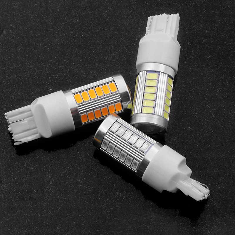 T20 7443 W21/5 W 33 5630 SMD 5730 LED de las luces de freno/21/5 w coche DRL bombillas de parada de la lámpara de conducción señales de giro rojo blanco ámbar DC 12V