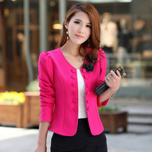 New Fashion Women Lady Tops Slim Suit OL Office Lady Short Coat Jacket SZ:S-3XL YF076