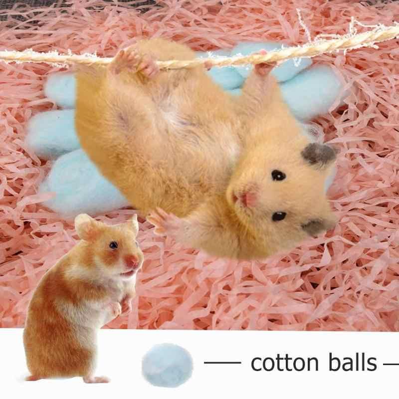 100 ピース/ロット冬保温綿ボールかわいいケージハウスフィラーハムスター、ラット、マウス小動物家の装飾ペットサプライヤー
