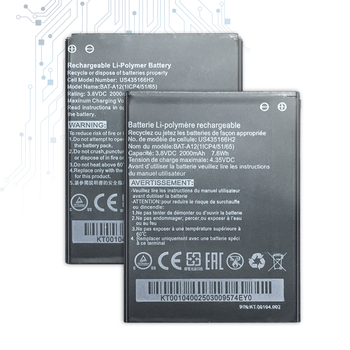 BAT-A12 Replacement Battery for Acer Liquid Z520 Dual SIM (P/N BAT-A12(1ICP4/51/65) KT.00104.002) 2000mAh Tracking Number image