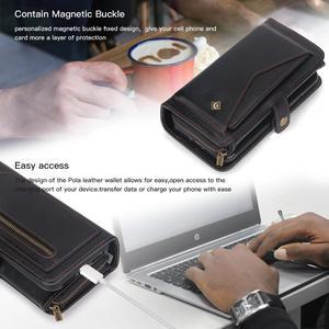 Image 5 - サムスン注 10 プラス財布ケース高級ジッパー着脱可能な磁気革カバーケース三星銀河 (注) 10 S10 s9 プラス