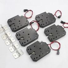 5 sztuk DC 12V mały elektromagnetyczny zamek automatyczny automat elektryczny zamek sterujący miniszafa drzwi zamek elektroniczny zamek