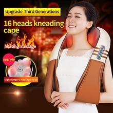 цена на LEDANN Electrical Shape Shiatsu Back Neck Shoulder Body Massager Infrared Heated Kneading For Car and Home