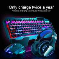 Durable Keyboard Mouse Combos Delicate Design K680 2.4G Wireless Gaming Rechargeable Backlit Mechanical Feel Keyboard Mouse
