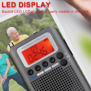 Image 2 - Retekess TR105 Air Band Radio portatile FM AM SW VHF Radio a banda intera ricevitore CB altoparlante di allarme digitale con Antenna estesa
