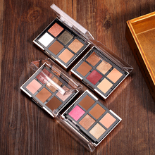 O.TWO.O 4pcs/set 6 Colors Eyeshadow Palette + 2 Colors Blusher With Brush Cosmetics Kit