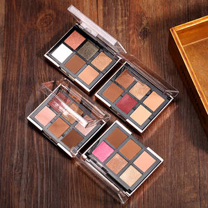 O.TWO.O 4pcsset 6 Colors Eyeshadow Palette + 2 Colors Blusher With Brush Cosmetics Kit