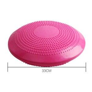 Image 5 - حار 3C Yoga الأزرق متوازنة الحصير ضمادة مساج وسادة التوازن القرص التوازن الكرة الشغب اليوغا وسادة الكاحل إعادة تأهيل حشوة وسادة