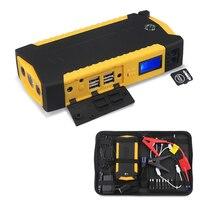 82800mAH arrancador de emergencia coche Booster Banco de energía de batería pico 600A batería de coche portátil Booster con cargador USB Luz Led