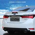 Для Toyota Corolla заднее крыло заднее 2014-2017 ABS пластиковый Неокрашенный цвет задний спойлер на крышу крыло багажника губы крышка багажника автомо...