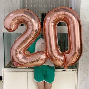32 Inch Big Foil Birthday Balloons Helium Number Balloon Figures Happy Birthday Party Decorations Kid Baloon Birthday Air Globos(China)