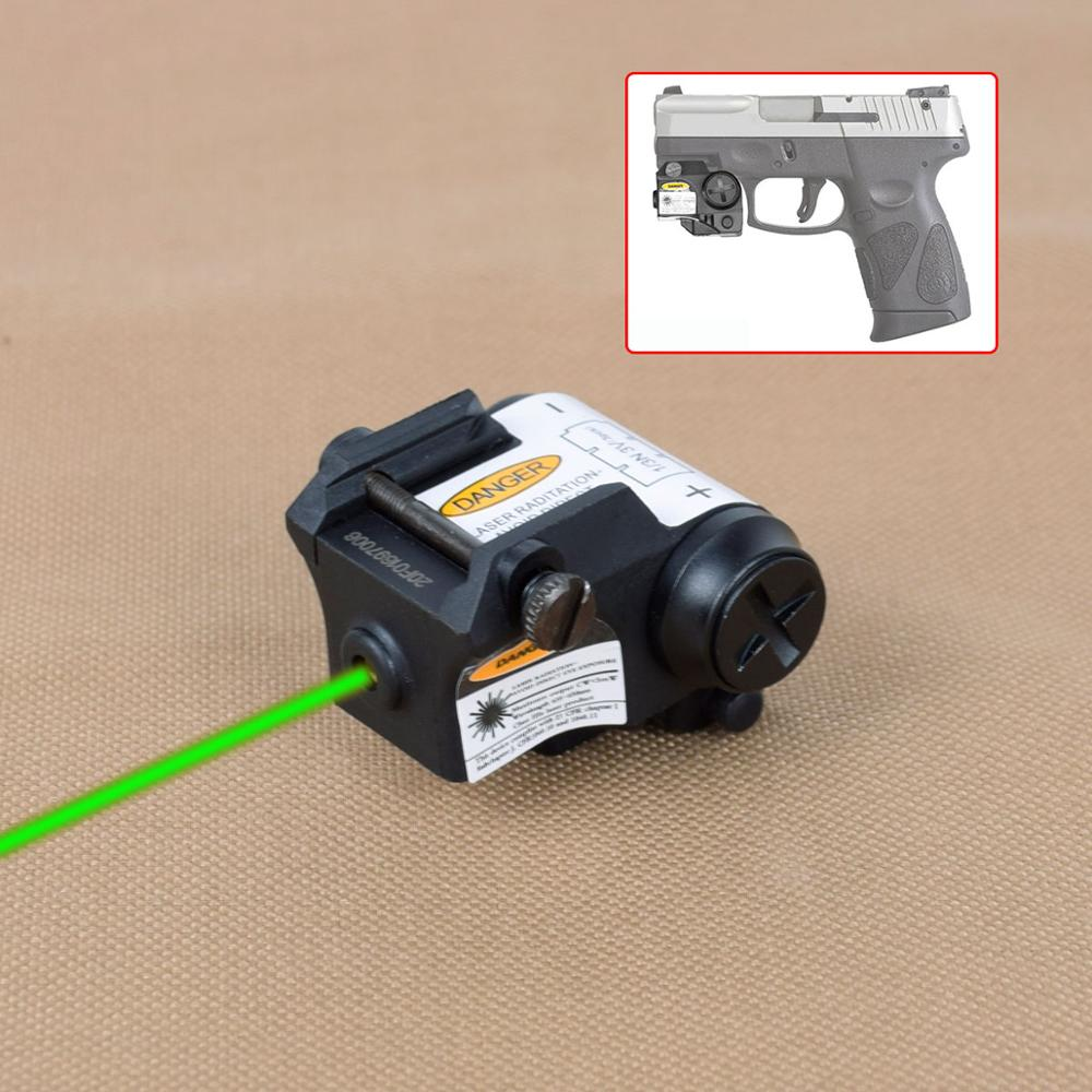 Tactical Mini Red/Green/IR Laser Sight Fit All Railed Including Full Size Compact Subcompacts Pistol For Taurus G2C  Glock-0