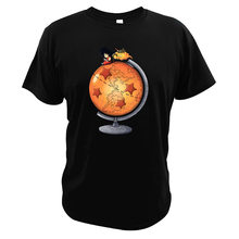 Dragon Ball Goku Manga Terbang Nimbus Tshirt Globe Ukuran Uni Eropa Anime Jepang 100% Cotton T Shirt(China)