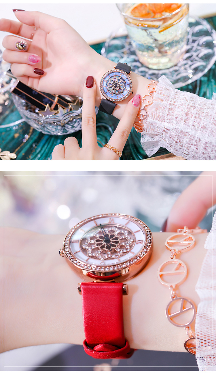 Relógios Flor Moda Ladies Watch Mulheres Casual