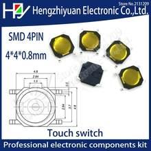 Membrana 4x4x0.8mm Táctil Botón Pulsador Interruptor Micro Tact 4 Pines Smd Paquete de 1-50