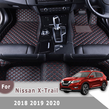 Custom Carpets Interior Decoration Right Hand Drive 3D Leather Car Floor Mats For Nissan X-Trail xtrail 2018 2019 2020 for honda civic left drive firm pu leather full car floor mats black grey beige non slip custom made waterproof carpets page 7