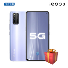 2020 Newest vivo IQOO 3 5G Celular Snapdragon865 48MP Quad Rear Camera 8G 128G 4440mAh Battery 55W FlashCharge 6.44'' Smartphone