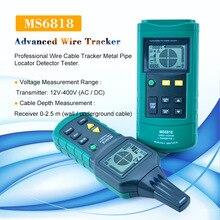 MASTECH MS6818 avanzata wire tester tracker multi funzione di rilevatore di Cavi 12 ~ 400V Tubo Locator Metro