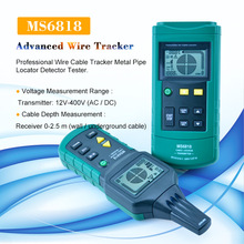 MASTECH detector de Cable multifunción MS6818 advanced, localizador de tuberías, 12 400V