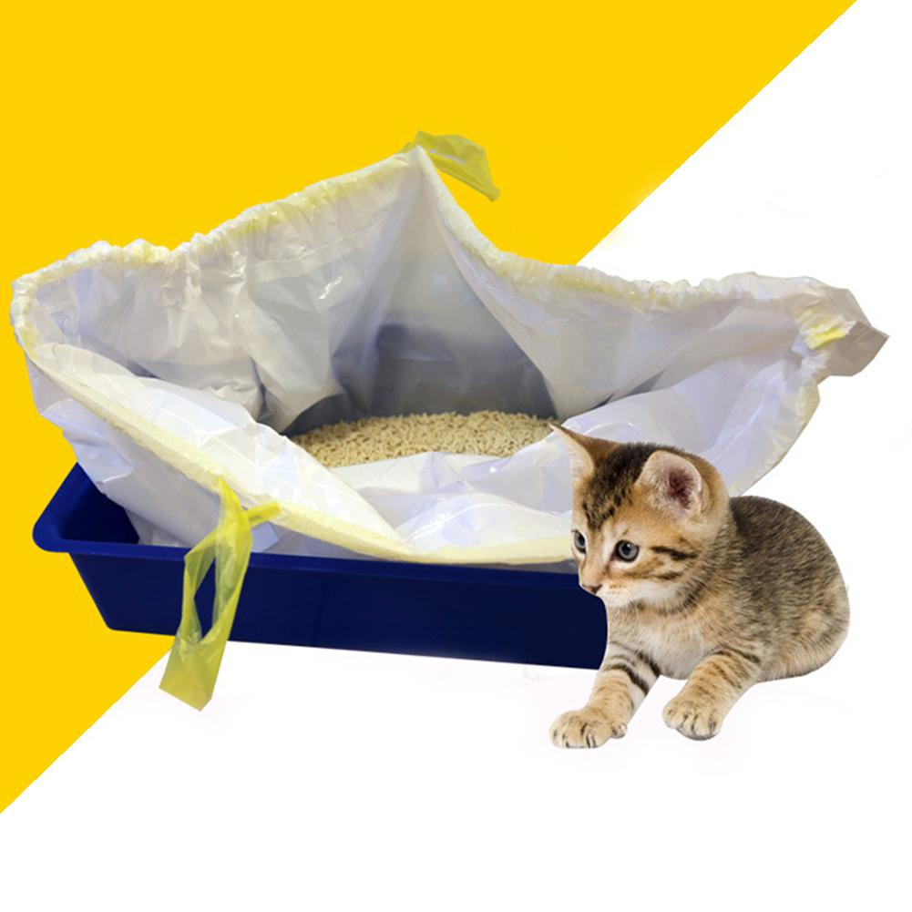 7pcs/bag Cat Litter Pan Bag Super Elasticity Cat Litter Cleaning Bag Drawstring Cat Clean Bags  94x46cm Free Shipping