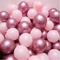 Воздушные шары 12 шт./лот из розового латекса, хромированные, золотистые, серебристые, золотистые, хромированные, металлические, для свадьбы, ...