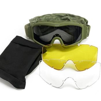 Gafas tácticas militares para hombre, lentes de sol militares para Paintball, Airsoft, tiro, moto, juego de guerra, a prueba de viento