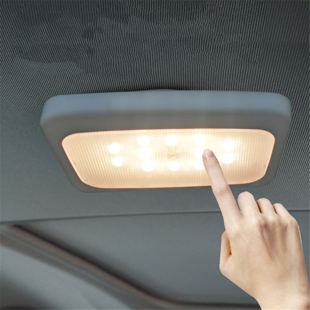 USB Recharged Car Led Ceiling Light Wireless Night Lamp White+Warm White Portable Indoor Reading Light For Washroom,Kitchen