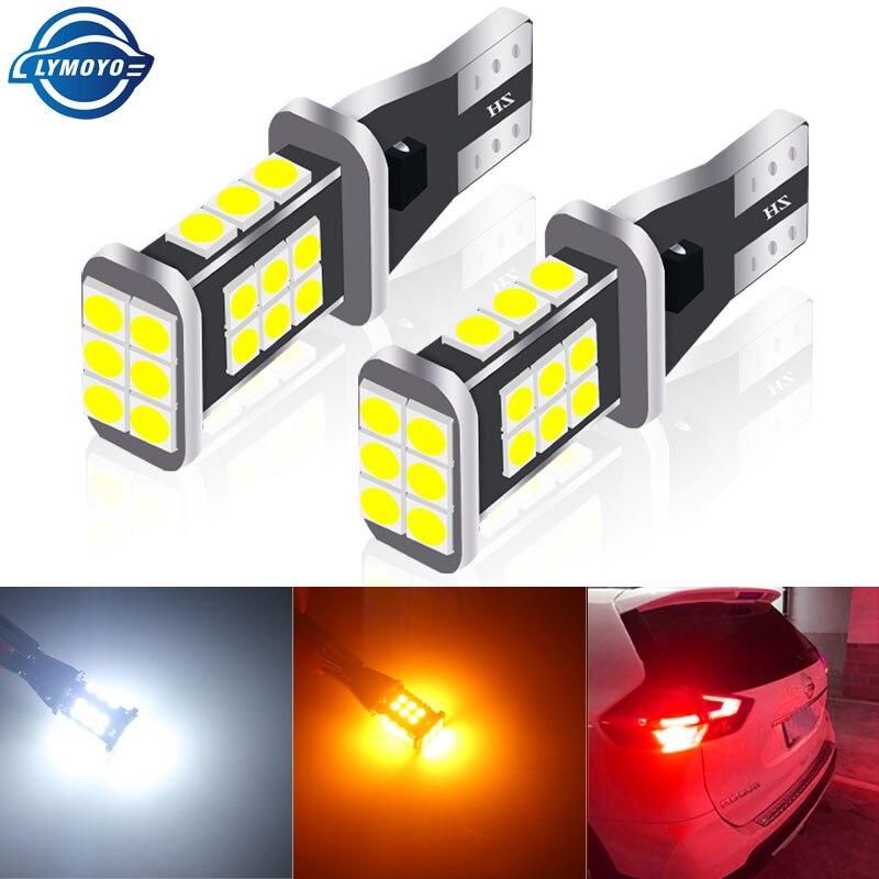 1 шт. T15 W16W светодиодный запасной светильник резервного лампа лампочки Canbus 3030 24 чипы без ошибок высокой мощности Светодиодный Canbus 921 912 W16W Авт...